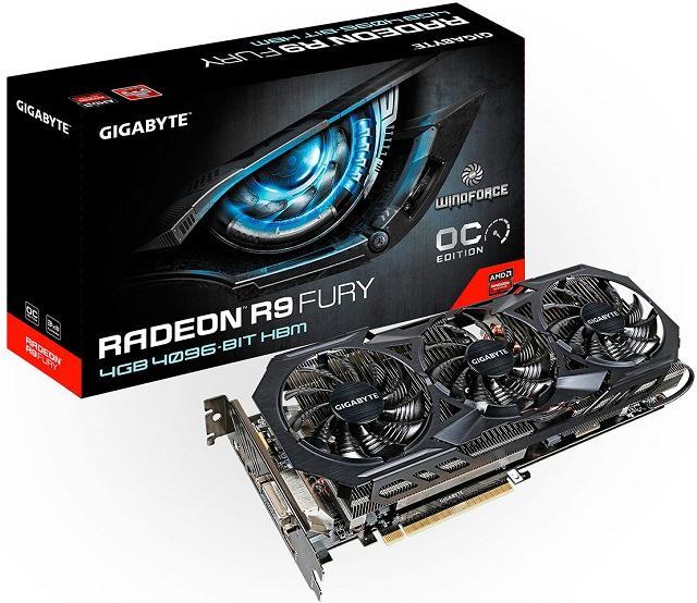 GIGABYTE выкатила на рынок графическую карту Radeon R9 Fury WindForce