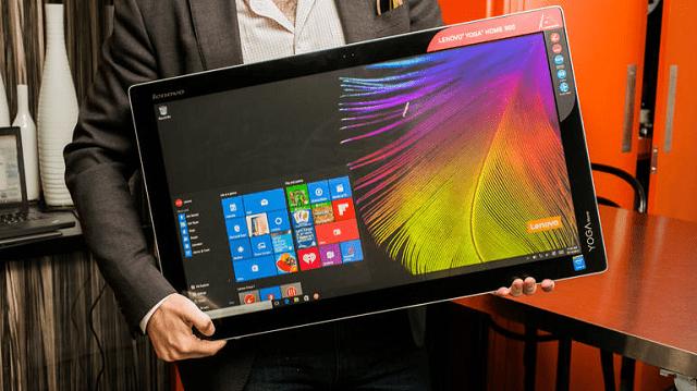 Lenovo анонсировали огромный 27-дюймовый моноблок «все-в-одном» с Windows 10
