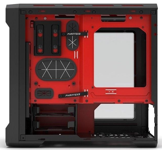Phanteks представила корпус Enthoo Evolv ITX в черно-красном варианте