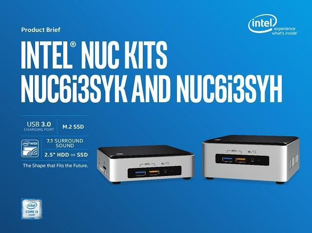 Мини-компьютеры Intel NUC на Skylake – теперь официально