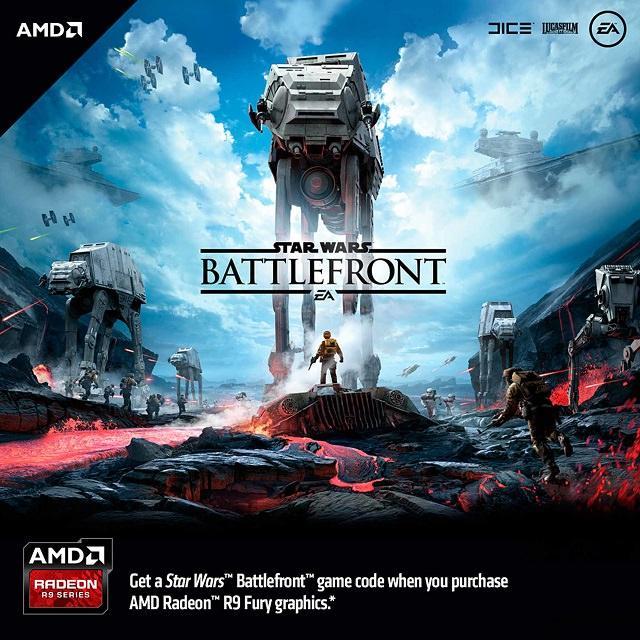 AMD будет дарить Star Wars Battlefront за покупку видеокарт серии Radeon R9 Fury