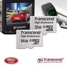 Transcend представляет карты памяти High Endurance microSDHC/SDXC, которые отлично подходят для использования в автомобильных видеорегистраторах и камерах слежения