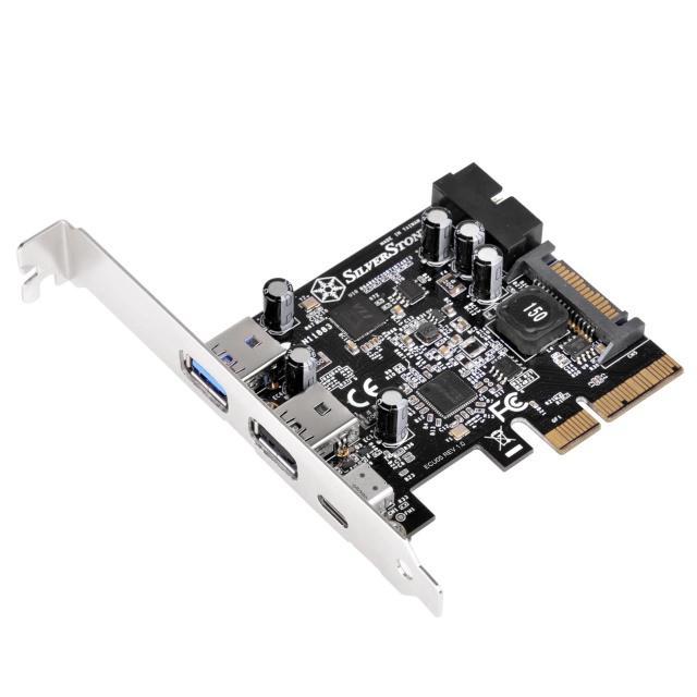 Компания SilverStone представила плату расширения ECU05 с портами USB 3.1 Type-C и USB 3.0