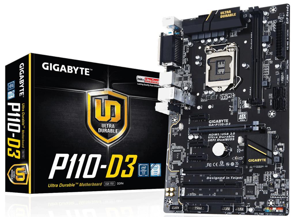 Gigabyte анонсирует GA-P110-D3 – материнскую плату с COM-портом