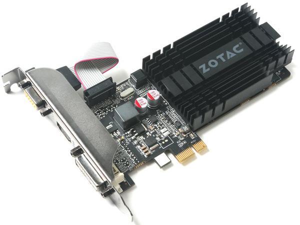 В ожидании Pascal: Zotac выпускает видеокарту GeForce GT 710 с интерфейсом PCI-Ex 1