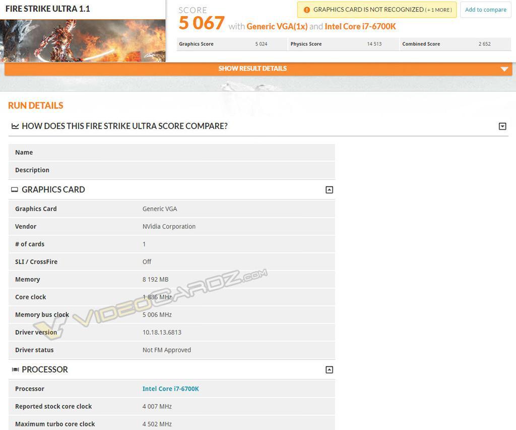 GeForce GTX 1080 3dmark 03