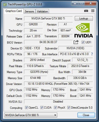 Утилита GPU-Z обновилась до версии 0.8.8