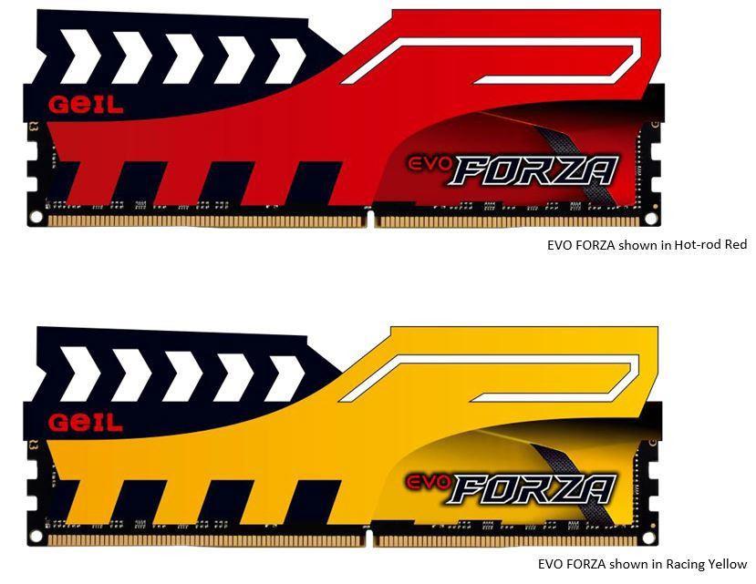 GeIL готовит модули памяти DDR4 EVO Forza