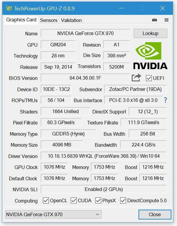 Утилита GPU-Z обновилась до версии 0.8.9