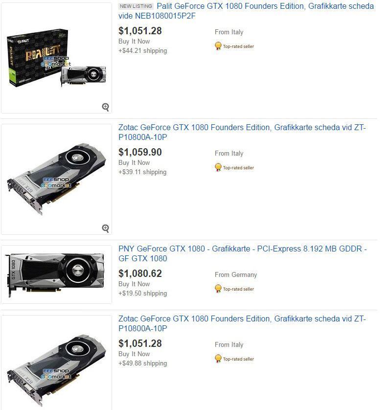 price GTX 1080