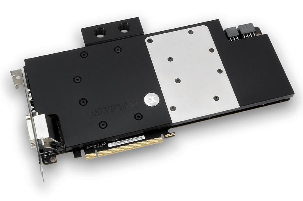 Уже в продаже: водоблок EK для Asus GeForce GTX 1080 Strix