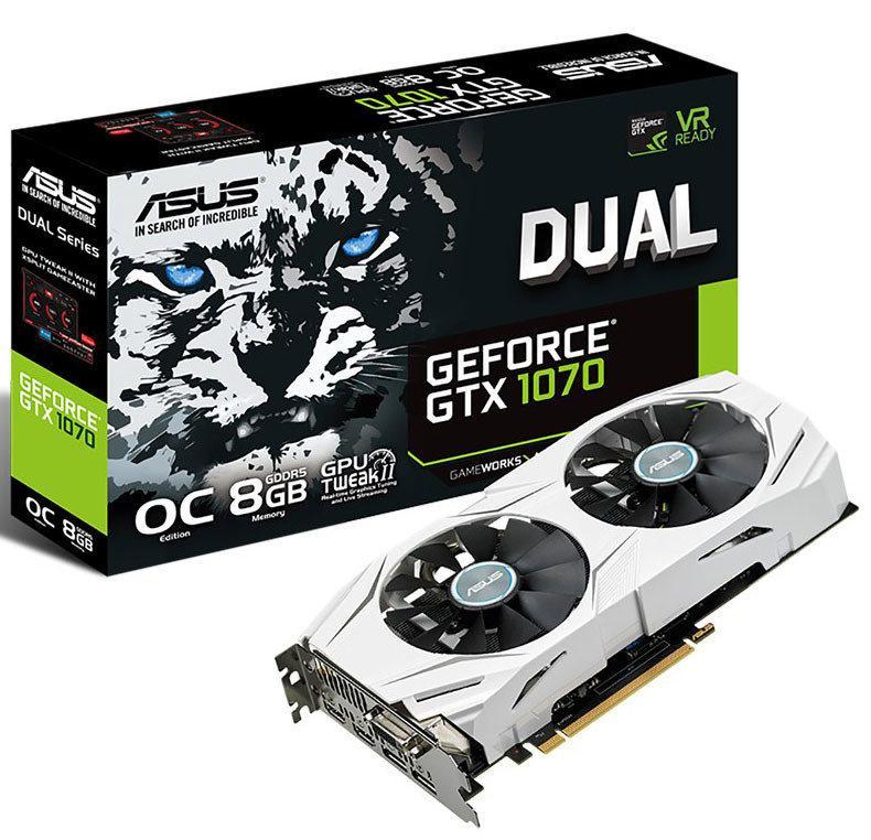 Asus выпускает видеокарту GeForce GTX 1070 Dual
