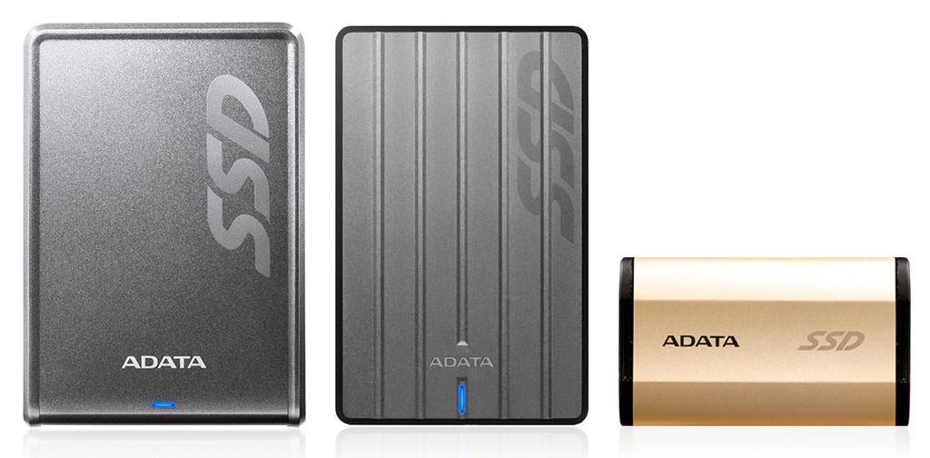 ADATA представила 3 внешних SSD-накопителя