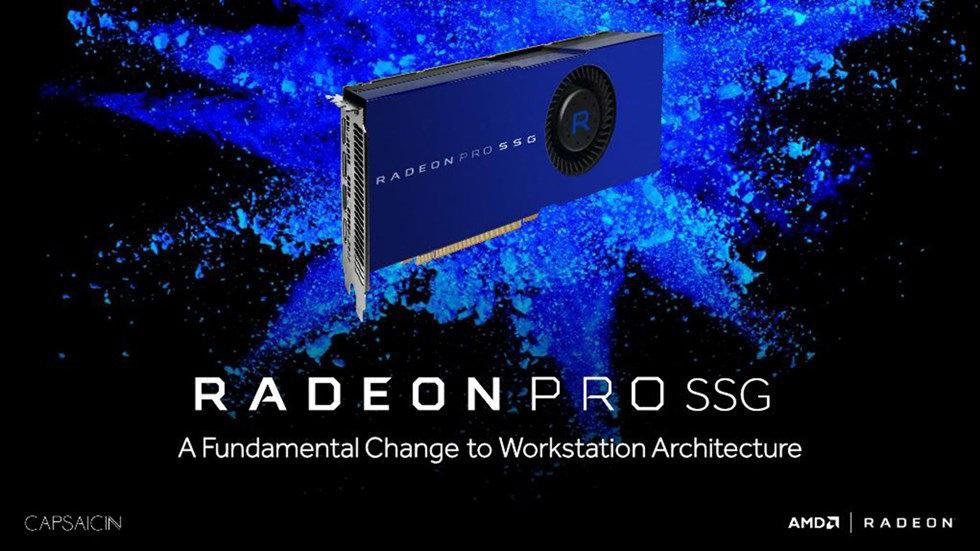 Большой шаг вперед! Radeon Pro SSG – видеокарта со слотом для SSD-накопителя