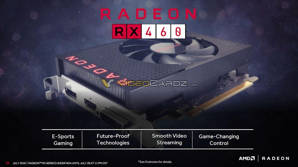 Спецификации и игровые тесты AMD Radeon RX 460