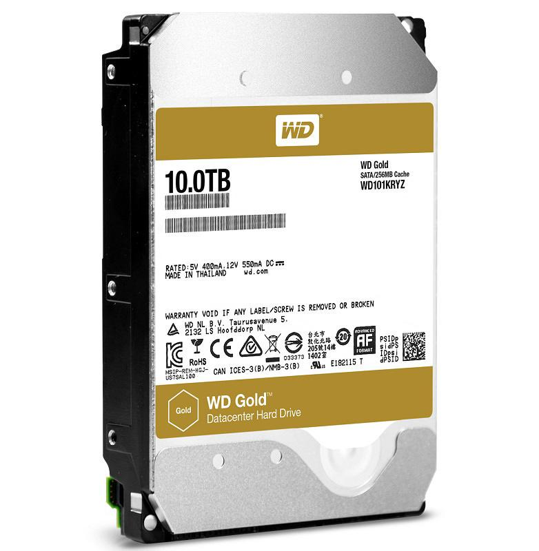 WD gold 10TB sample