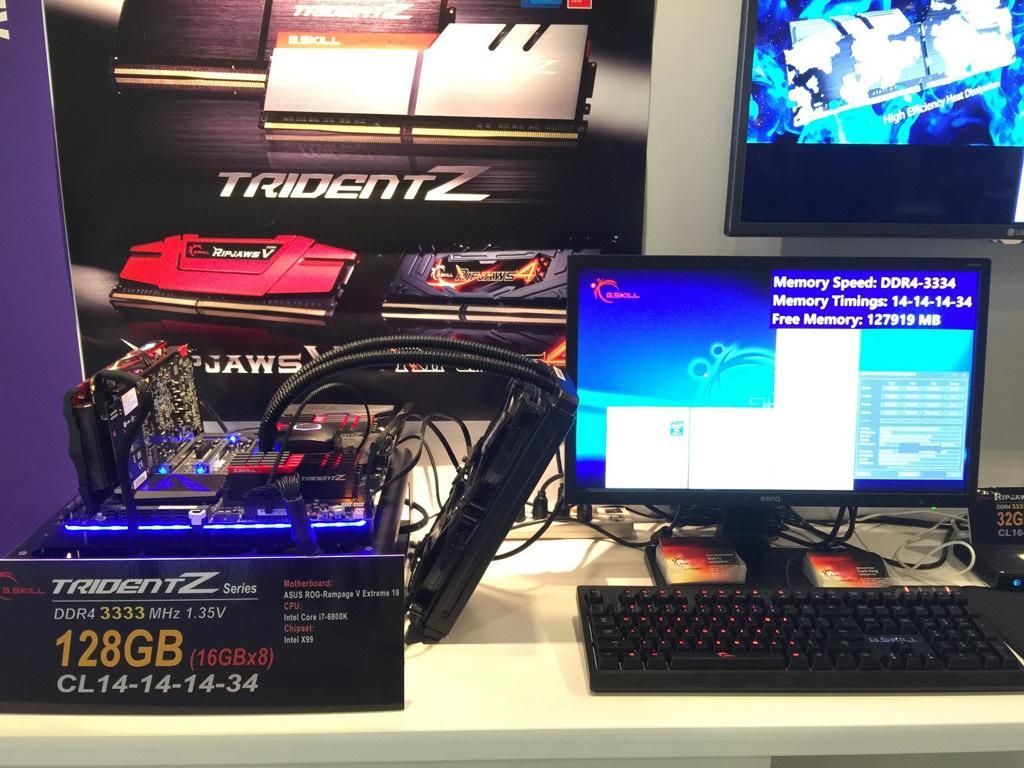 G.SKILL продемонстрировали комплекты оперативной памяти DDR4-3333 МГц на 64 и 128 ГБ