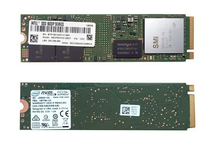 600P – недорогие SSD-накопители Intel с интерфейсом NVMe