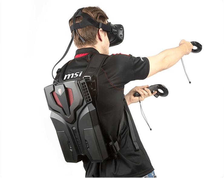 MSI VR One – первый в мире «рюкзак виртуальной реальности»