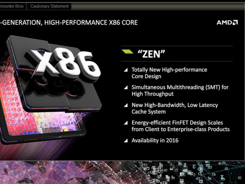 Настольные процессоры AMD Zen, возможно, представят уже в этом году