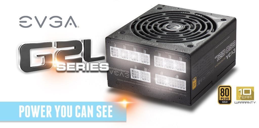 EVGA SuperNOVA G2L – блоки питания с необычной подсветкой
