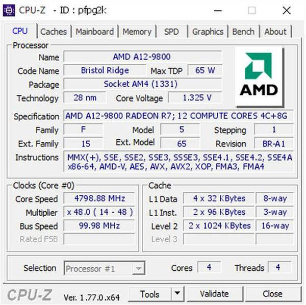 AMD A12 9800b
