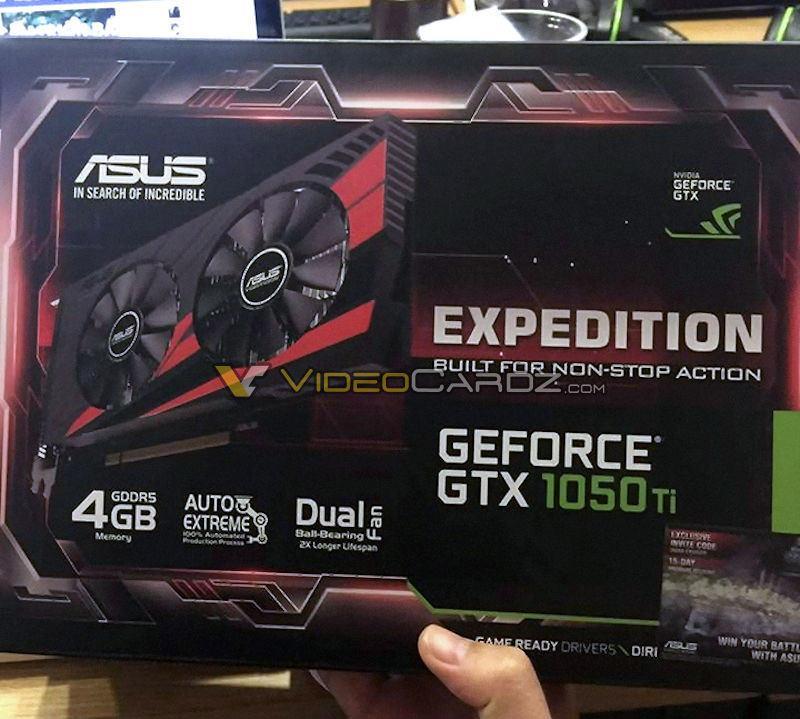 В Сети замечена видеокарта ASUS GeForce GTX 1050 Ti Expedition