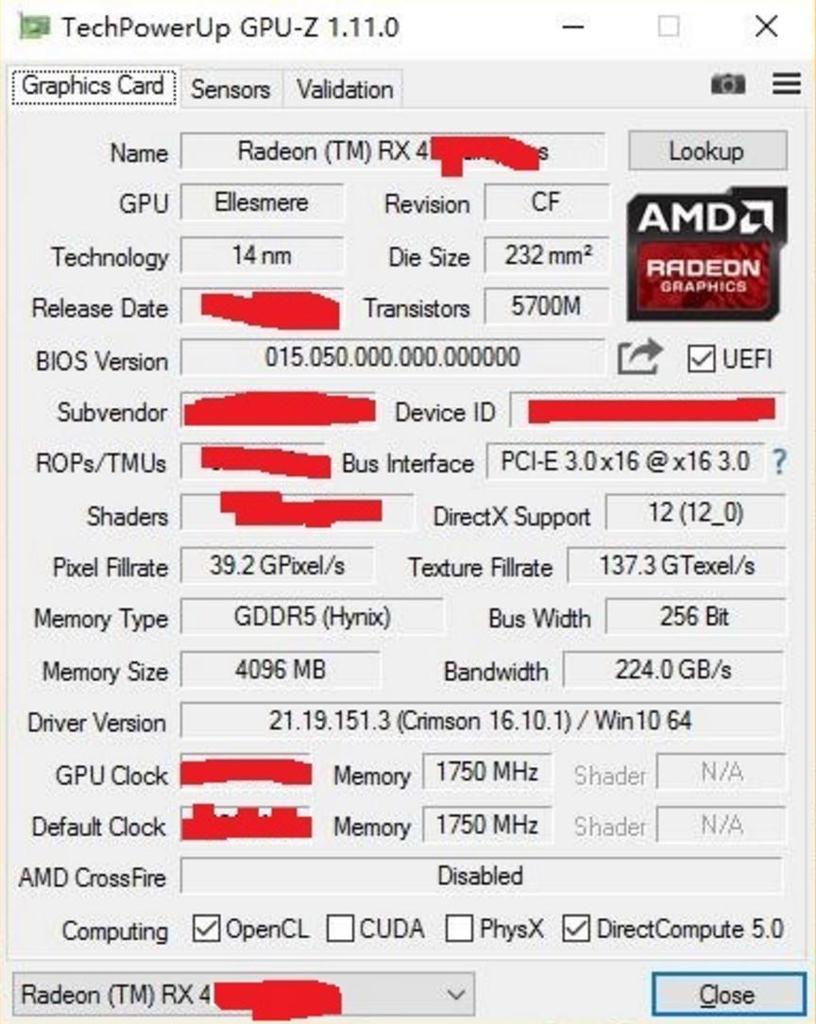 Radeon RX 465 RX 470 SE 3