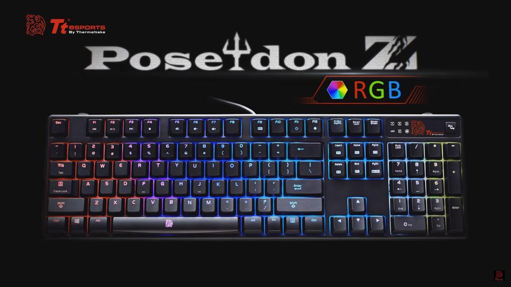 Обзор механической клавиатуры Tt eSports Poseidon Z RGB. Отрабатывает за каждую копейку