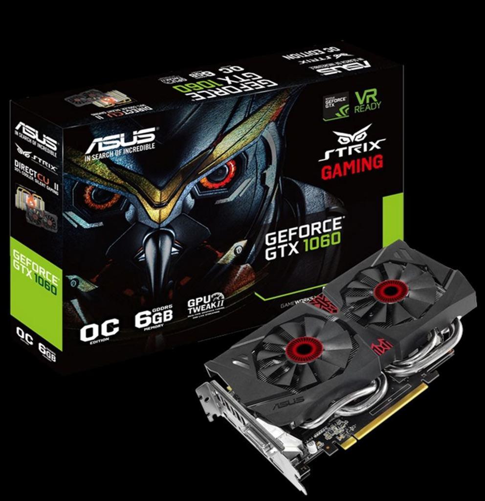 ASUS готовит GeForce GTX 1060 Strix с классическим кулером DirectCU II