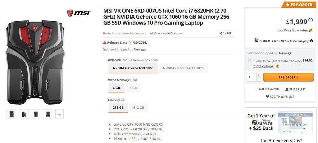 MSI VR One buy 4