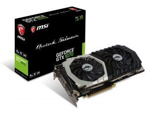 MSI выпустила видеокарту GeForce GTX 1070 Quick Silver