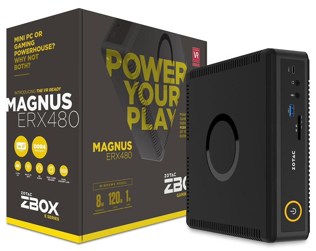 Zotac Zbox Magnus ERX480 – первый в мире мини-ПК с видеокартой Radeon RX 480