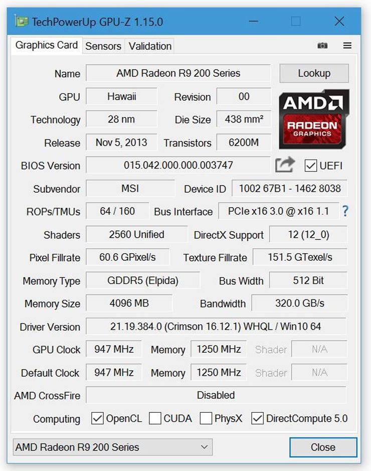 GPU Z 1.16.0 1