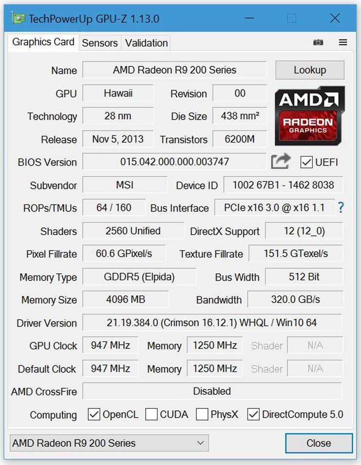 Утилита TechPowerUp GPU-Z обновлена до версии 1.13.0