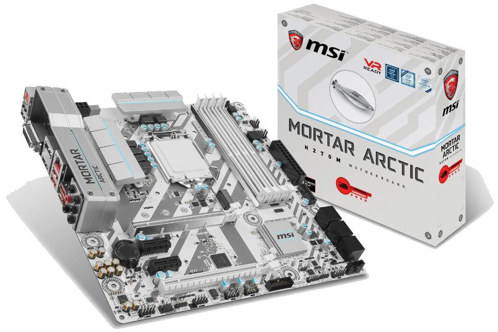 MSI H270M Mortar Arctic Edition 1