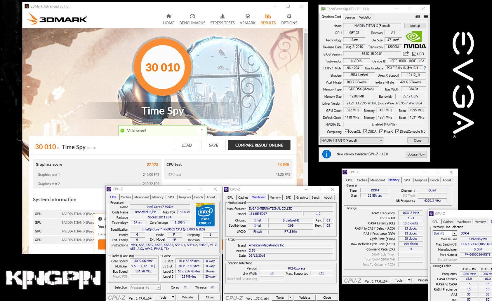 4x Titan X Pascal впервые смогли набрать 30000+ в 3DMark Time Spy