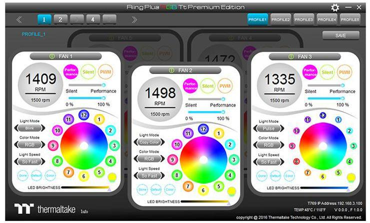 Thermaltake Riing Plus 120 LED RGB 3