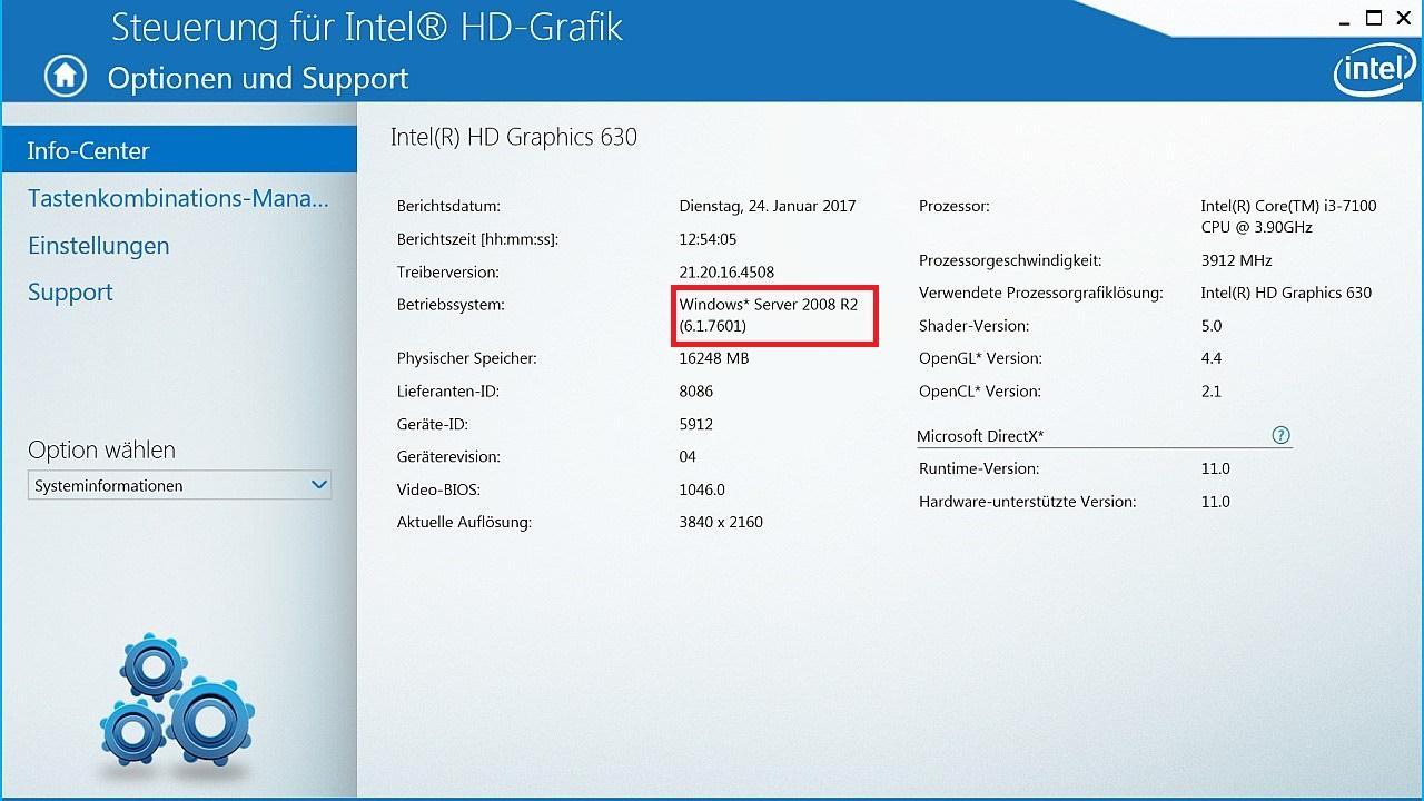 Win 10 HD 630