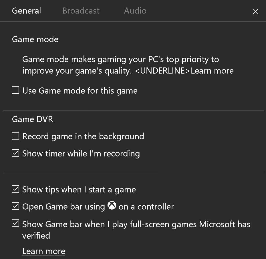 Windows 10 Game Mode 2