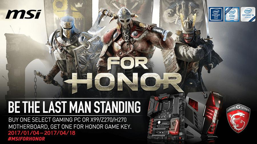 MSI promo For Honor 1