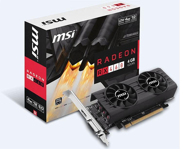 Компания MSI выпустила низкопрофильные видеокарты Radeon RX 460 LP