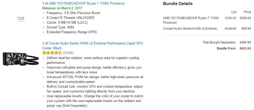 Процессоры AMD Ryzen замечены для предзаказа на Amazon