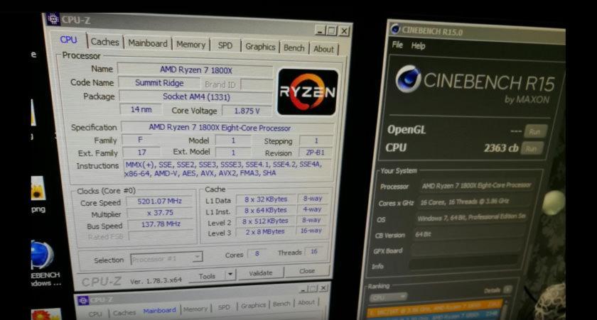 AMD Ryzen 7 1800X Cinebench R15