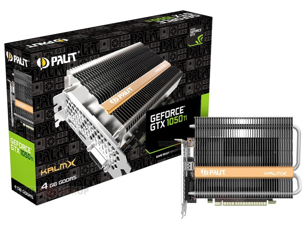 Palit выпустила видеокарту GeForce GTX 1050 Ti KalmX с полностью пассивным охлаждением