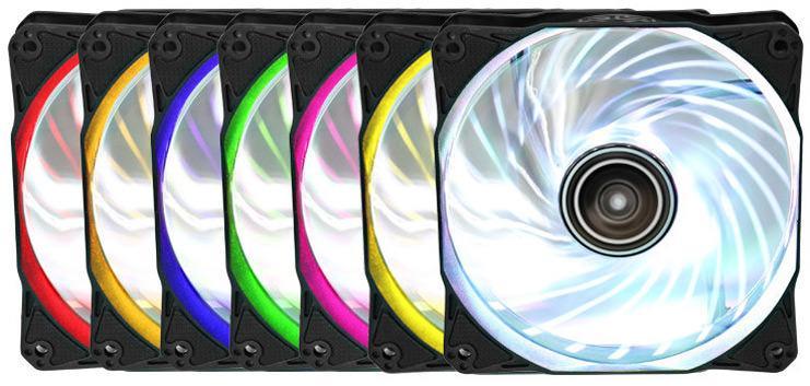 Antec выпустила серию вентиляторов Rainbow 120 RGB