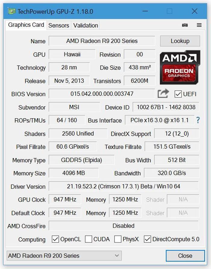 Обновлена утилита TechPowerUp GPU-Z (v1.18.0)