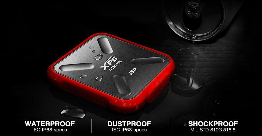 ADATA XPG SD700X – внешний SSD-накопитель с стандартом защиты IP68