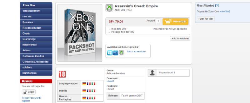 assassin creed empire rumor 2