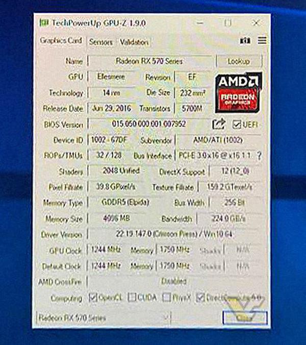AMD Radeon RX 570 2